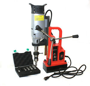 1350w Magnetic Core Drill Press 3372lbs Magnet Force W 6pc Annular Cutter Bits
