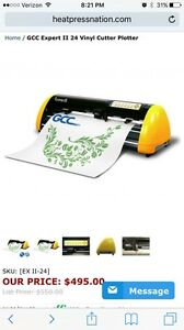 Gcc Expert 24 Vinyl Cutter Stahls Heat Press 15x15 package Deal