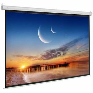 92 16 9 Electric Motorized Indoor Projector Screen Remote