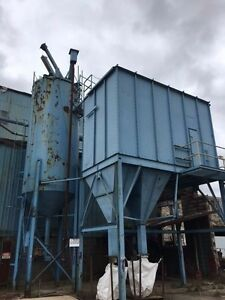 Large Industrial Dust Collector System With Lot Of Pipe 2 Affluent Bag Set Up