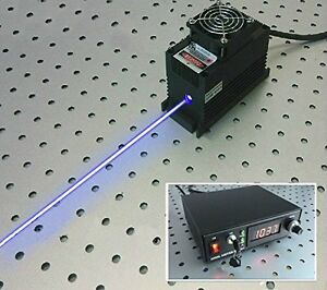 470nm 2w Blue Laser Dot Module Ttl analog Tec Cooling 85 265v Power Supply