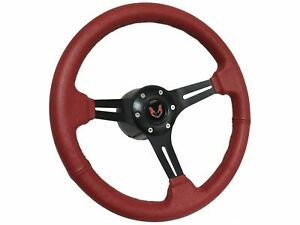 1969 1994 Pontiac Firebird 6 Bolt Red Leather Steering Wheel Kit