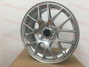 18 Hyper Dark Chr Lip Style Rims Wheels Fits Honda Civic Si Accord Tsx 5x114 3