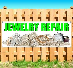 Jewelry Repair Advertising Vinyl Banner Flag Sign Many Sizes Available Usa