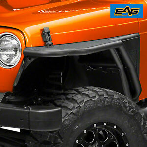 1976 1986 Jeep Wrangler Cj7 Front Fender Flares With Flair Mesh Black Textured