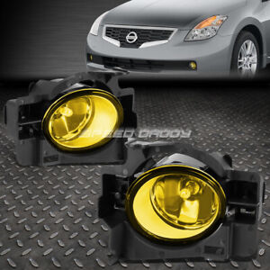 For 08 10 Nissan Altima Coupe D32 Yellow Lens Oe Bumper Driving Fog Light Lamp