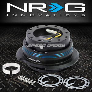 Nrg 6 Hole Steering Wheel 1 Click Gen 2 9 Quick Release Hub Adapter Blue Stripe