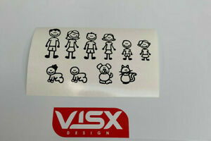 Stick Figure Family Set Decal Vinyl Sticker Car Window Wall
