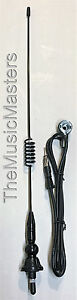 Black 17 Inch Spring Whip Ball Base Universal Antenna Car Audio Stereo Radio