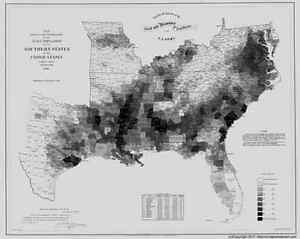 Us Slave Map 1861 Al Scottsboro Selma Semmes Sheffield Simcoe Smiths Salem Large