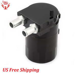 Black Universal Oil Tank Baffled Aluminum Alloy Oil Catch Can Reservoir Tank