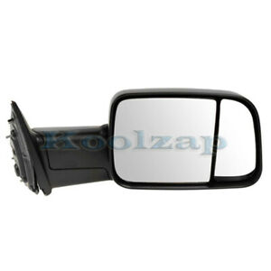 09 12 Ram Pickup Truck Manual Black Fold Flip up Tow Mirror Right Passenger Side