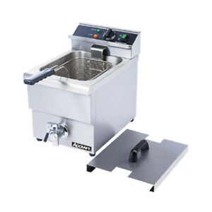 Adcraft Df 12l Single Electric Countertop Deep Fryer With Faucet
