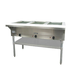 Adcraft St 120 3 3 well Steam Table With Polycarbonate Cutting Board
