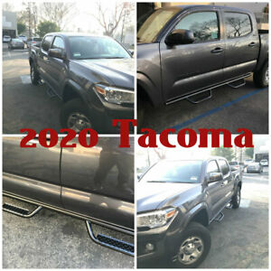 08 21 For Toyota Tacoma Double Cab Off Road Hoop Side Step Running Boards Bars