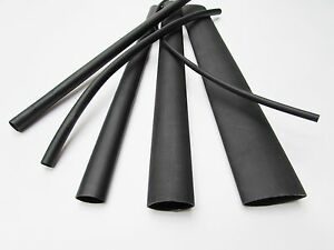 6ft Black Heat Shrink Tube Assortment 3 1 Dual Wall Adhesive Glue Line Marine to