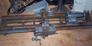 Antique F e F E Reed Lathe Industrial Machine Table Worcester Mass Machinery
