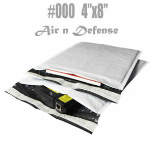 000 4x8 Poly Bubble Mailers Padded Envelopes Mailing Shipping Bags Airndefense