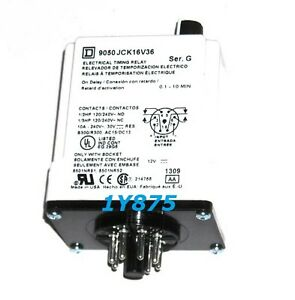5945 01 408 9810 Square D 9050jck16v36 Solid State Timer Relay 240vac 10a T jck