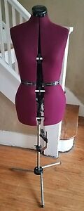 Dritz My Double Dress Form Deep Purple Nylon With Adjustable Stand