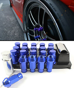 For Subaru Models M12x1 25 Jdm Spec R Style Blue Tuner Wheel Lug Nut Key Locks