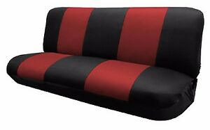 Mesh Black Red Full Size Bench Seat Cover Fit Most Vintage Classic Car