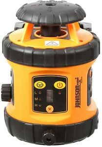 Johnson Self leveling Rotary Laser Level With Detector