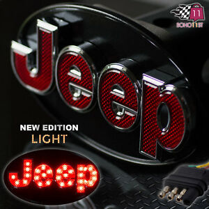 Jeep Hitch Cover Licensed Led Light Trailer Towing Hitch Receiver Chrome 6513