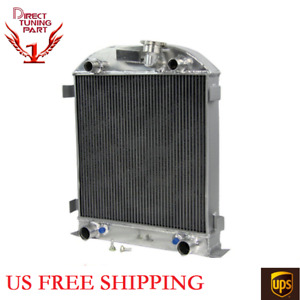 3 Row Aluminum Radiator For 1928 1929 Ford Model A Flathead 3 3l 3278cc L4 Gas