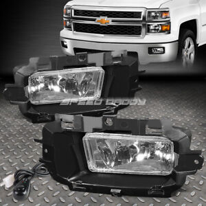 For 14 15 Chevy Silverado 1500 Clear Lens Bumper Driving Fog Light Lamp W Switch