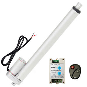 18 Inch 450mm 12v Dc Linear Actuator Remote Controller 1500n Max Lifting Auto