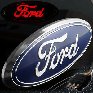 Ford Hitch Cover Licensed Led Light Trailer Towing Receiver Blue Chrome 6065