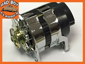 Chrome 18acr 45 Amp Alternator Pulley Fan Fits Classic Mini