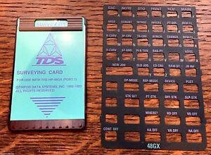 Tds Surveying Card For Hp 48gx Calculator