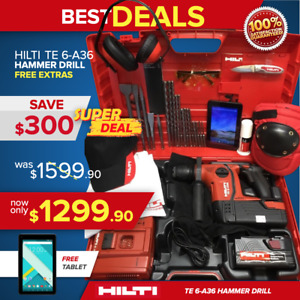 Hilti Te 6 a 36 Hammer Drill Brand New Free Tablet A Lot Extras Quick Ship