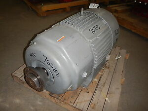 100 Hp Slip Ring General Electric Motor 1800 Rpm 445ty Frame Tefc 460 V