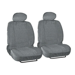 Fits Honda 4 Pc Gray Scottsdale Seat Covers Front Pair Premium Cloth Material