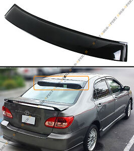 For 2003 08 Toyota Corolla Jdm Glossy Blk Rear Roof Aero Window Visor Deflector