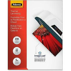 Fellowes Imagelast 5mil Laminating Pouches Letter 200 Pack