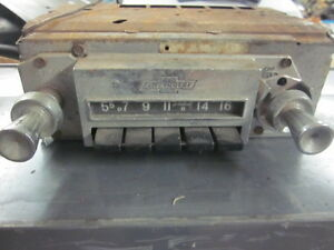 Original Survivor 1961 Chevrolet Am Radio Nova Chevy Ii Corvair 1961 1979