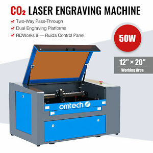 2020 New Co2 Laser Engraver Cutter 50w 20 x12 Cutting Engraving Marking Machine