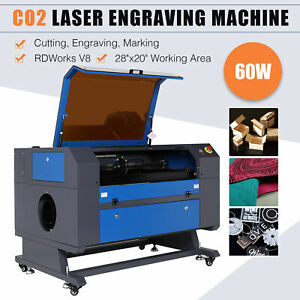 Upgraded 40w Co2 Laser Engraving Cutting Machine Cutter Water break Protection