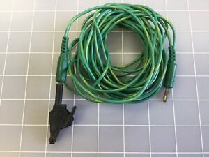 Esu Grounding Cable Miscellaneous W Alligator Clip green