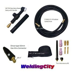 Tig Welding Torch 9v 125a 25 Valve head Replacement For Lincoln Pta Us Seller