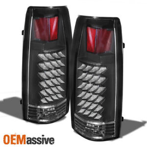 Fits 88 98 C10 C K Suburban Tahoe Sierra Yukon Silverado Black Led Tail Lights