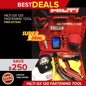 Hilti Gx 120 Fastening Tool Preowned Free Tablet Extras Fast Shipping
