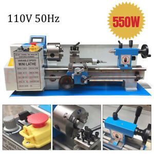 550w 110v Metal Lathe Variable Speed Lathe Thread Processing 7 X 14