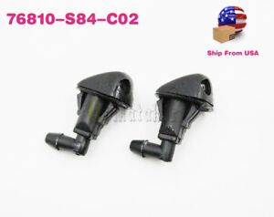 Oem 2x Windshield Washer Nozzle Hose Sprayer Motor For Accord 98 02 76810s84c02