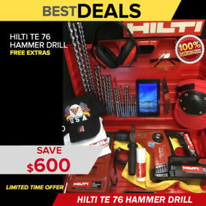 Hilti Te 7 a Hammer Drill Free Tablet Bits A Lot Of Extras Fast Ship