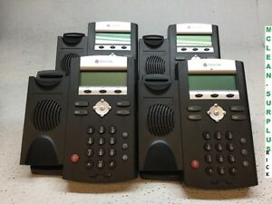 Lot Of Four 4 Polycom Ip 335 Soundpoint Business Phones No Handsets
